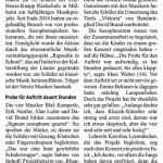 Kölner Stadtanzeiger zum Lesen anklicken!